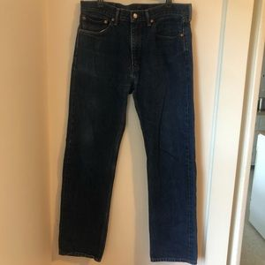 Levi Strauss 505 Blue Jeans Size 36 x 34